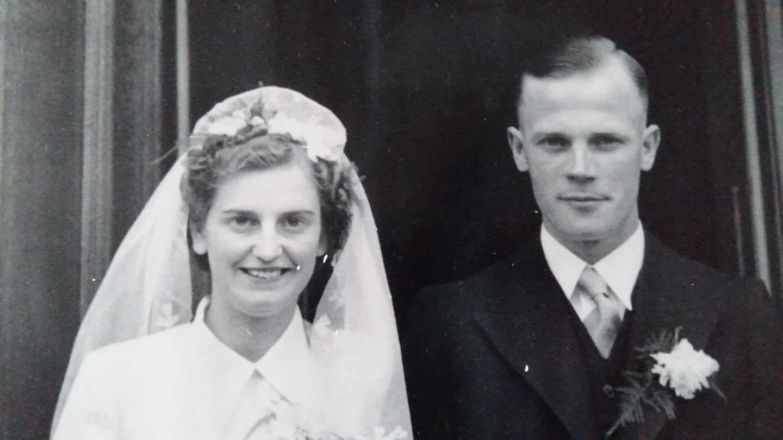 Derk en Iepi Koetje trouwfoto