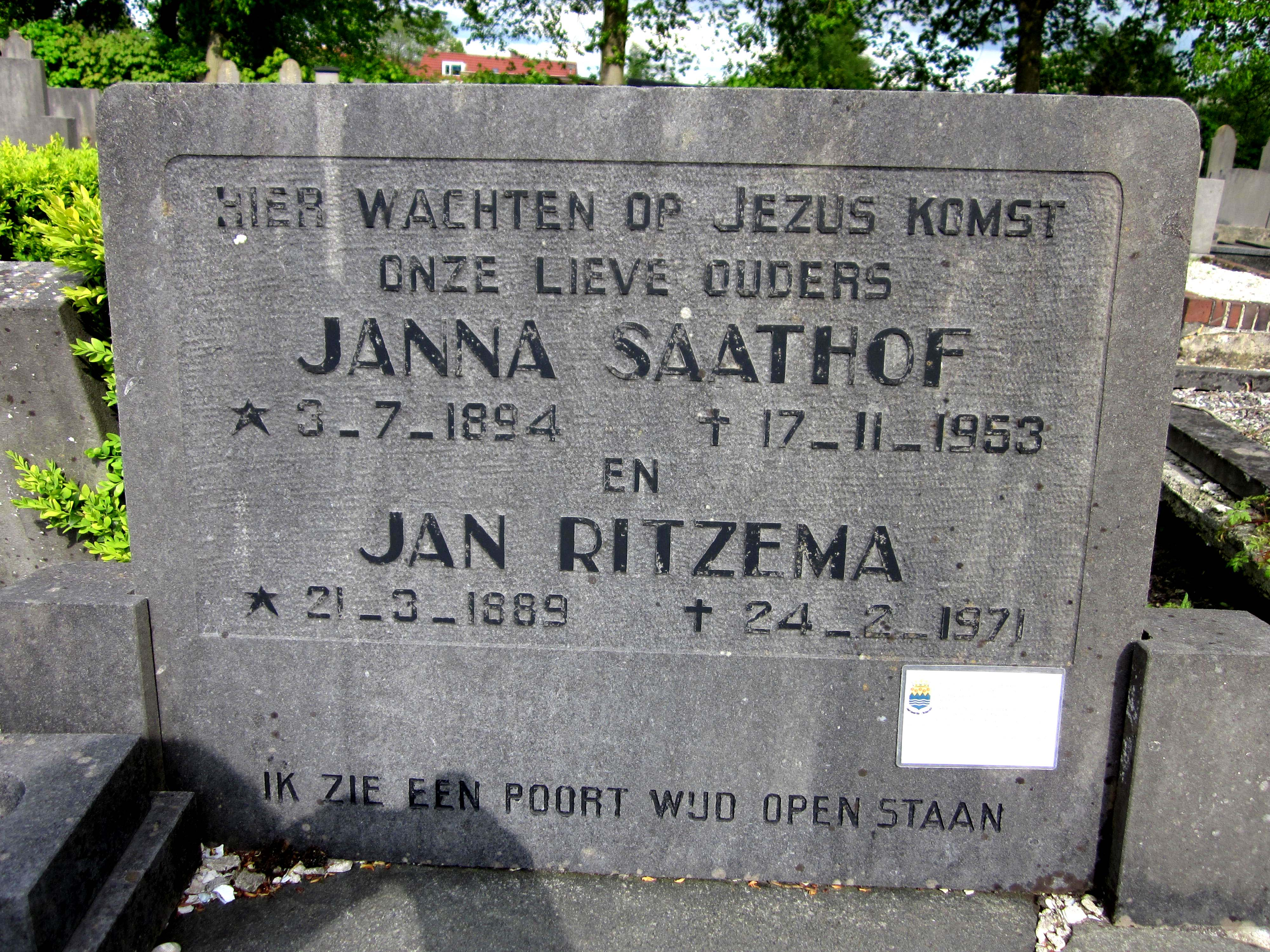 Jan & Janna Ritzema - Saathof