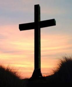 Kruis met avondlucht